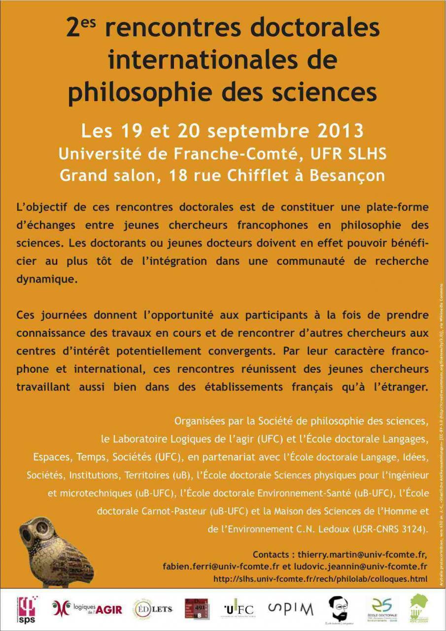 2es rencontres doctorales internationales de philosophie des sciences