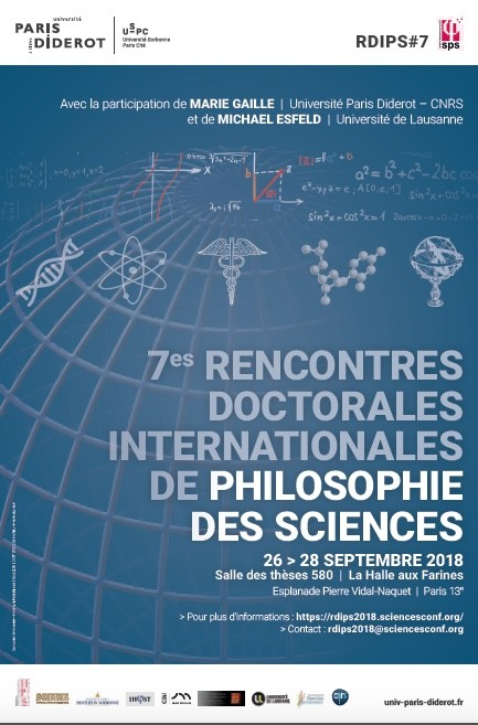 7èmes Rencontres Doctorales Internationales en Philosophie des Sciences